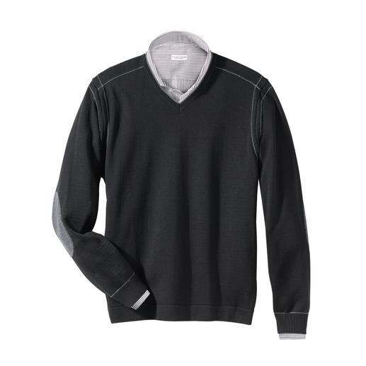 Tom Ripley Stereo-System® V-Pullover Der wärmende Wollpullover, der niemals kratzt
