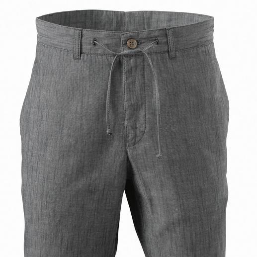 Komfort-Tunnelzug-Hose So stylish kann eine bequeme Sommerhose sein. In luftig-frischer Baumwoll-/ Leinenmischung.