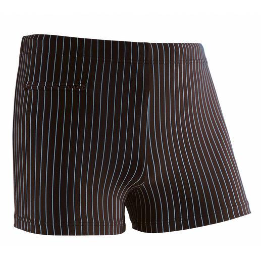 Nadelstreifen-Schwimmpants Pants, in denen sich ein Gentleman wohlfühlt.