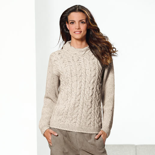 Irelands Eye Zopf-Pullover Der original irische Zopf-Pullover kommt nie aus der Mode. Und ist doch schwer zu finden.