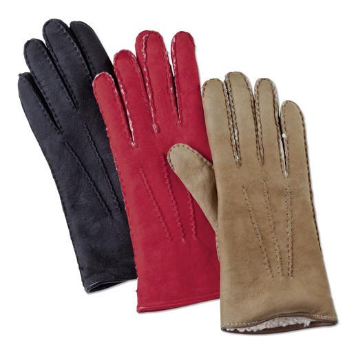 Merola Curly-Lamm-Handschuhe für Damen Der Luxus-Handschuh aus seltenem Curly-Lammpelz. Handgefertigt von Merola/ Italien.