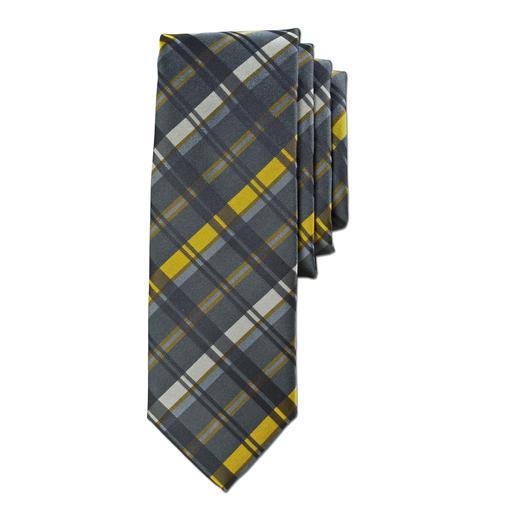 """alpi Krawatte """"golden stripe"""" - Modisches Update für alle dunklen Businessoutfits. Bei alpi in Krefeld handgefertigt."""