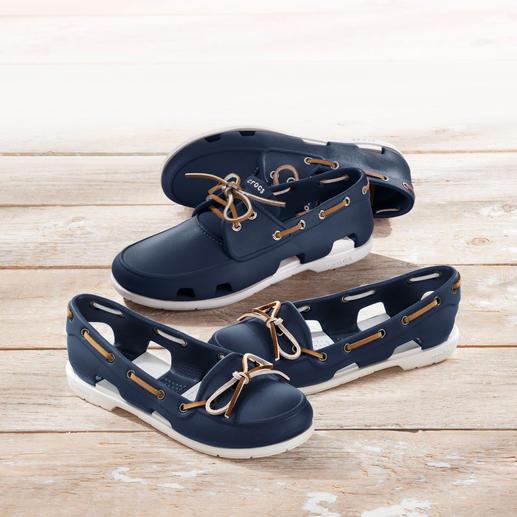 Crocs™ Damen- oder Herren-Bootsschuh Der Bootsschuh von Crocs™/USA: Bequem wie ein Kunststoff-Clog. Aber fein genug für den Yacht-Club.