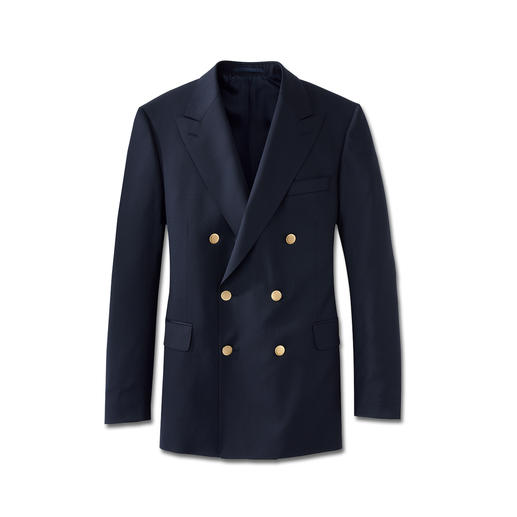 Eduard Dressler Admiral-Clubblazer Aus feinem italienischen Tuch. Schneidermässig verarbeitet von Eduard Dressler, seit 1929.