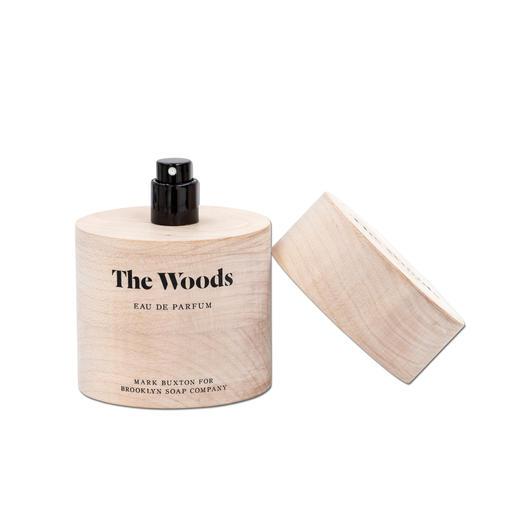 The Woods Eau de Parfum - Vom bekannten Parfümeur Mark Buxton – und doch ein Geheimtipp. Das erste Herrenparfum der Brooklyn Soap Company.