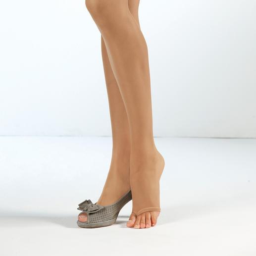 Fogal Peep Toe-Strumpfhose Die Peep Toe-Strumpfhose mit Zehensteg: Sitzt perfekt und rutscht nicht hoch.