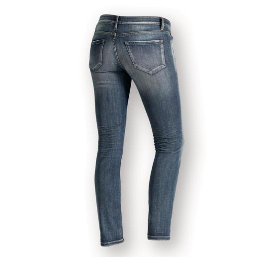 1921 Cozy Skinny Jeans Feminin figurbetonte Jeans – aber lässig und superbequem. Dank komfortablem Dehnbund. Von 1921 Jeans.