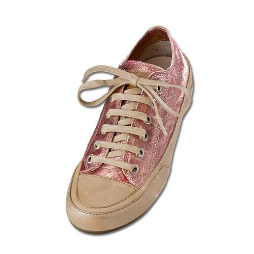 Candice Cooper Metallic-Leder-Sneaker Der italienische Edel-Sneaker nach dem Vorbild des ersten Turnschuhs. Aus handschuhweichem Ziegenleder.