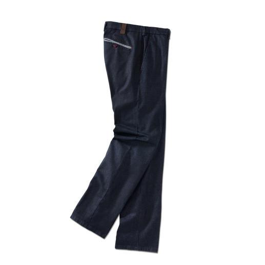 MMX Flat-Front-Edeljeans - Die Edel-Jeans für Gentlemen. Optisch nah an der Tuchhose. Aber aus robustem, unempfindlichem Denim.
