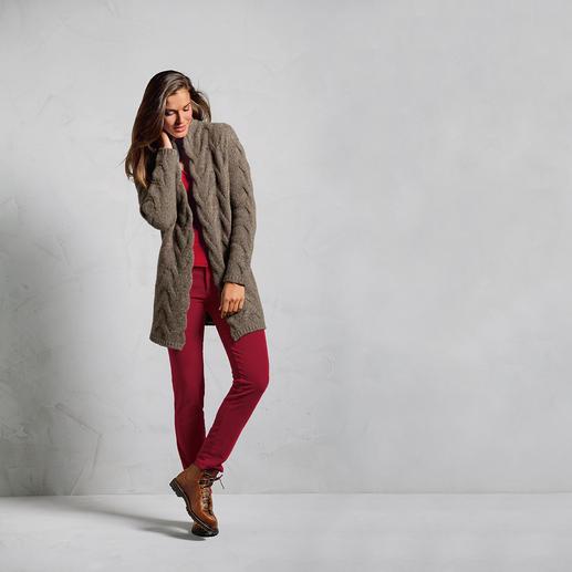 Heartbreaker Donegal-Cardigan - Weicher, schlanker, femininer: Facelift für den Donegal-Cardigan. Veredelt mit 50 % Kaschmir.