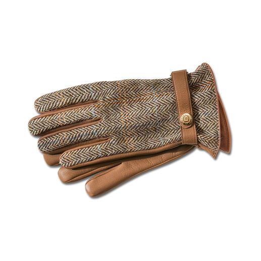 Dents Harris Tweed-Damen- oder Herrenhandschuhe Luxus-Handschuhe von Dents. Aus original Harris Tweed und seltenem Hirschleder.