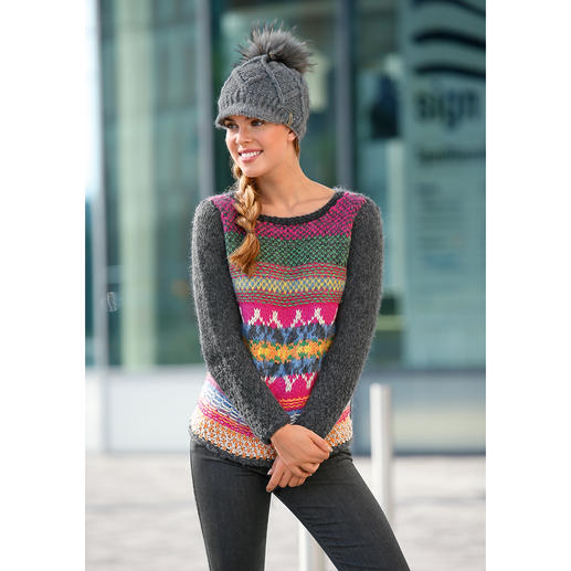 Eribé Handstrick-Pullover - Handstrickkunst aus Schottland. Jeder Pullover ein unverwechselbares Unikat.