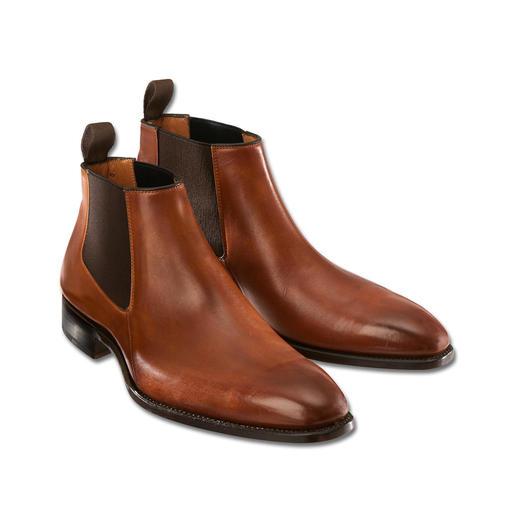 """Carlos Santos Chelsea-Boots """"Low-cut"""" - Das modische Klassiker-Update: Chelsea-Boots mit Low-Cut-Schaft. Rahmengenäht von Carlos Santos, Portugal."""