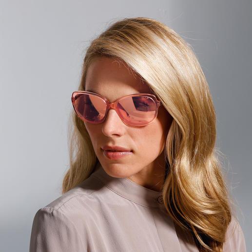 Strenesse Retro-Sonnenbrille Die Retro-Sonnenbrille - eine grosse Brillenform, die auch schmalen Gesichtern schmeichelt. Von Strenesse.
