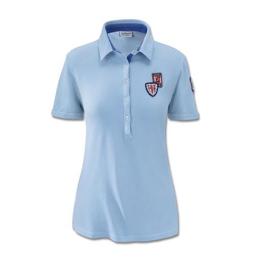 Luis Trenker Pikee-Polo Femininer und modischer als all die sportlichen Pikee-Polos. Das charmante Polo-Shirt von Luis Trenker.