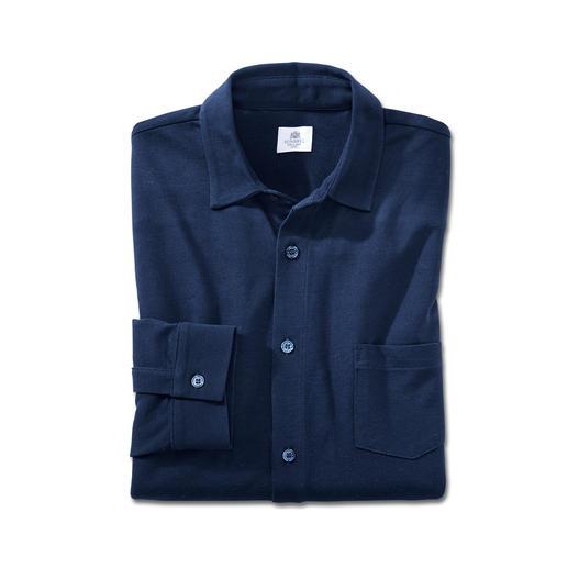 Sunspel Pima-Piqué-Hemd Ihr wohl luftigstes und bequemstes Sommerhemd. Mit Piqué-Gewirk aus Pima-Baumwolle.