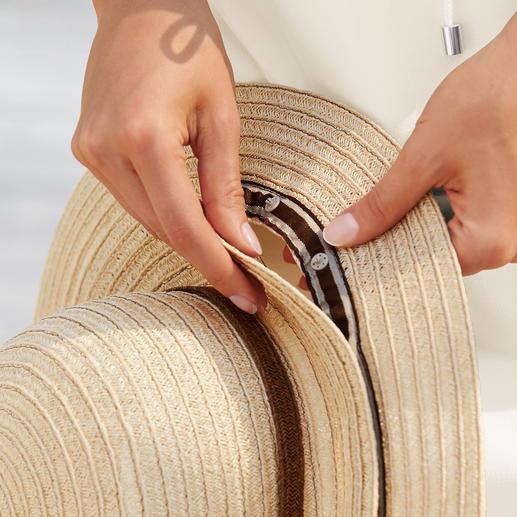 Mayser 2-in-1-Hut 1 Hut – 2 eindrucksvolle Looks. Durch An- und Abknöpfen der Krempe im Handumdrehen verwandelt. Von Mayser, Hutmacher seit 1800.