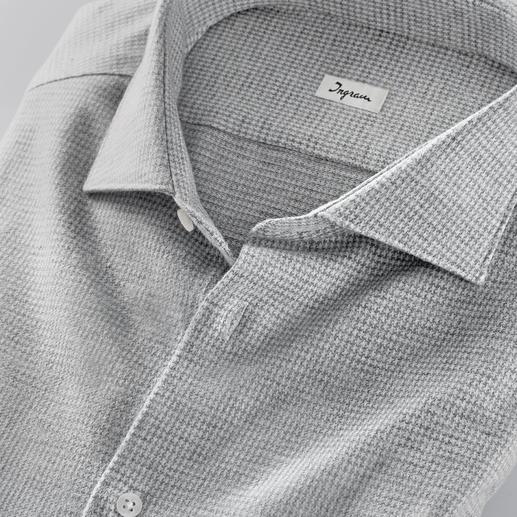 Ingram Jersey-Hahnentritt-Hemd Bequem wie ein T-Shirt. Weich wie ein Flanellhemd. Und: Korrekt wie ein Businesshemd.