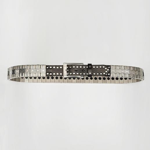 Nanni Metall-Flex-Gürtel - Massive Optik. Flexibler Tragekomfort.