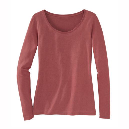 Das perfekte, winterwarme Basic-Shirt. Das perfekte, winterwarme Basic-Shirt. Gelungene Komposition aus Pima-Cotton und Baby-Alpaka. Von La Prenda, Peru.