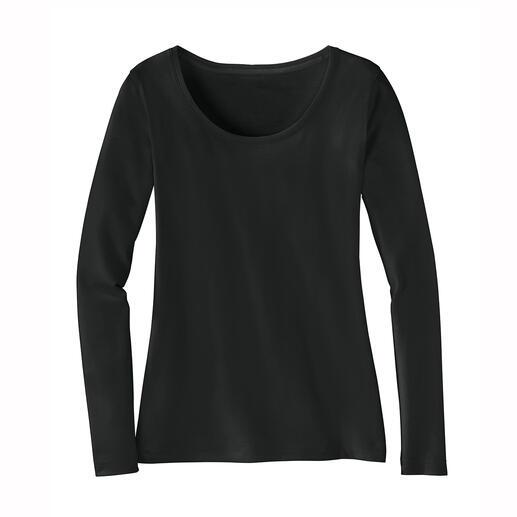 Alpaka-Pima-Shirt Das perfekte, winterwarme Basic-Shirt. Gelungene Komposition aus Pima-Cotton und Baby-Alpaka. Von La Prenda, Peru.