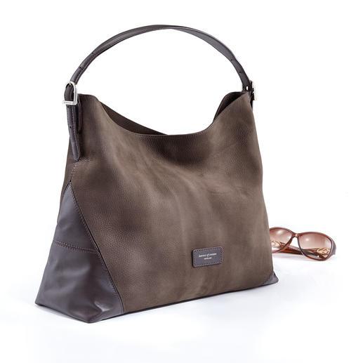 Aspinal Hobo-Bag - Knautschweiches italienisches Leder. Hochwertige britische Verarbeitung. Und ein sehr erfreulicher Preis.