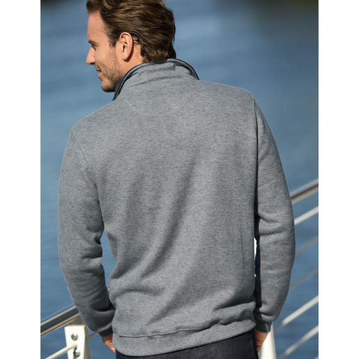 Strick-Fleece Herren-Troyer Aussen klassisch-elegante Strick-Optik. Innen kuscheliger Fleece.