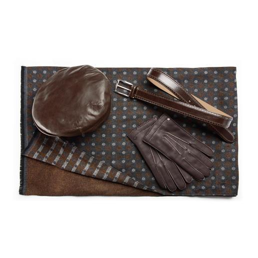 Kangol Schafleder-Schiebermütze Schiebermütze Deluxe: aus butterweichem Schafleder. Vom britischen Traditions-Hersteller Kangol®, seit 1938.