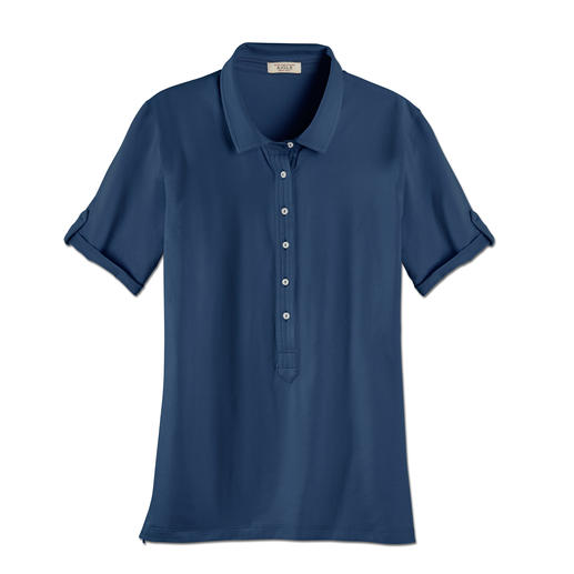 Aigle Baumwoll-Funktionspolo Endlich ein Funktionsshirt aus Baumwolle. Weicher, natürlicher Griff. Angenehm trockenes Klima. UV-Schutz.