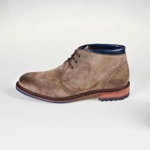 Cordwainer Veloursleder-Boots Selten sind rahmengenähte Schuhe so modisch lässig – und so günstig.