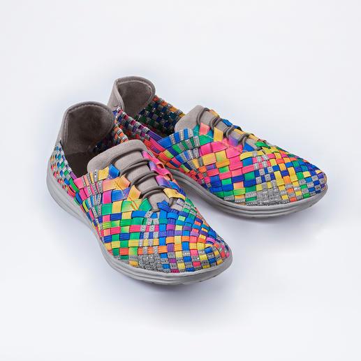 "Bernie Mev. Flecht-Sneaker - Flecht-Sneaker vom ""King of woven Footwear"". Bequemer, leichter und luftiger können modische Sneaker kaum sein."