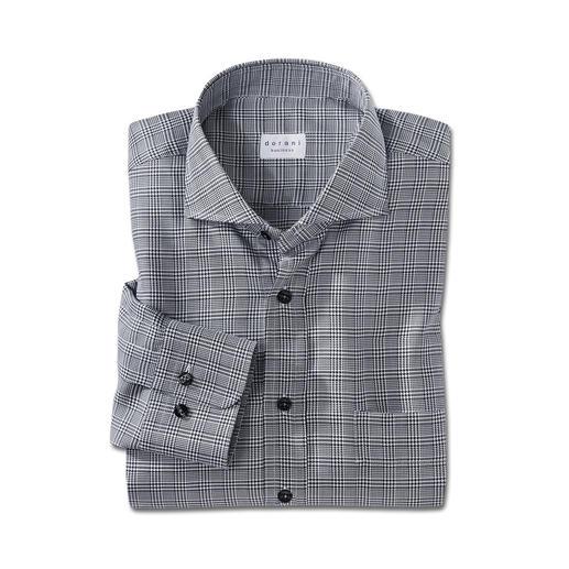 Dorani Glencheck-Hemd Viel interessanter als ein unifarbenes Hemd. Aber genauso vielseitig zu kombinieren. Der Klassiker: schwarz-weisser Glencheck.
