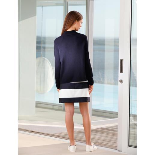 """Belle ile-Strickjacke """"Perlfang"""" Edel wie eine Couture-Jacke. Vielseitig wie eine Jeansjacke. Und bequem wie eine Strickjacke."""