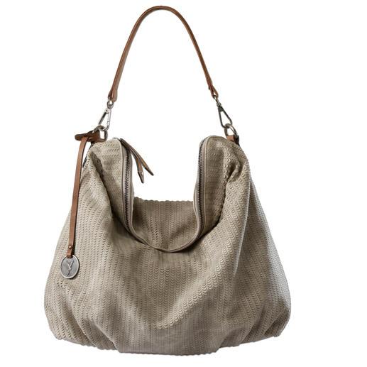 Edel und knautschweich wie Leder. Edel und knautschweich wie Leder. Modische Hobo Bag zu einem sehr angenehmen Preis.