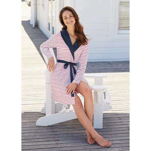 Robe de chambre en jersey Taubert « maritime » - La robe de chambre idéale  pour bce58ed62eb