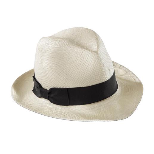 """Hat Attack Fedora-Panama-Hut - Mode-Trend """"Maskuline Hüte"""": Tragen Sie den Panama-Fedora vom Kult-Label Hat Attack, New York."""