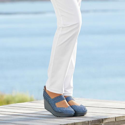 "bernie mev. Flecht-Wedges Der Fashion-Hit aus den USA: Flecht-Wedges vom ""Master of woven Footwear"", bernie mev., New York."
