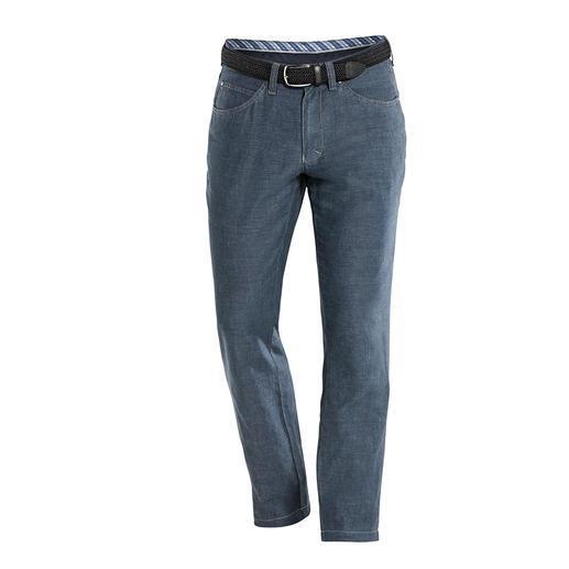 Baumwoll/Leinen-Five-Pocket Endlich: eine luftige Baumwoll-Leinen-Hose mit dem knackigen Sitz einer Jeans. Dazu formstabil, knitterarm und blickdicht.
