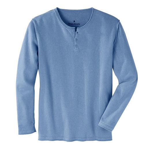 Der stilvolle Casual-Pullover vom Shirt-Spezialisten Ragman. Feinstrick aus Leinen und Baumwolle. Lässig-bequemer Style.