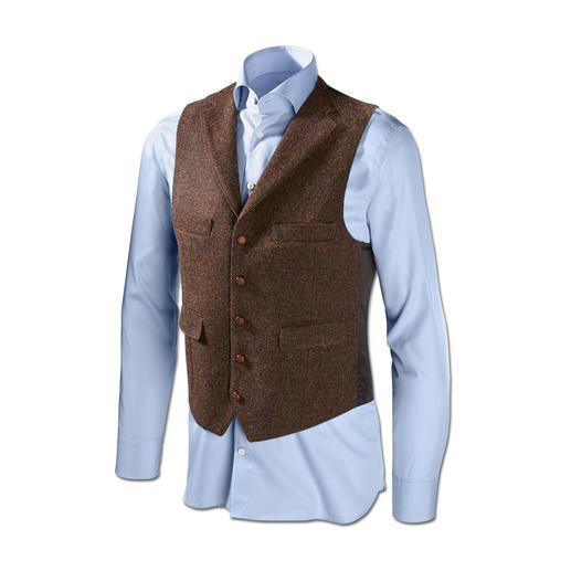 Carl Gross Harris Tweed-Sakko oder -Weste Original Harris Tweed von den Äusseren Hebriden – aber viel feiner und       leichter als üblich. Von Carl Gross.