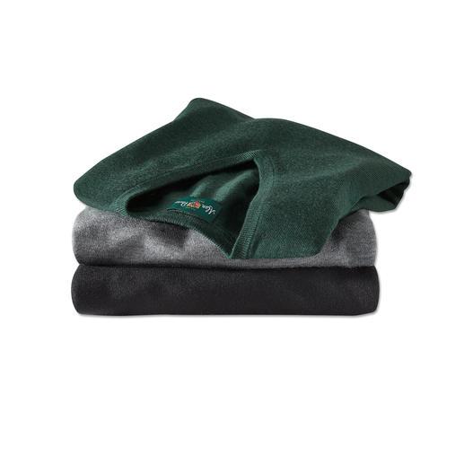 V-Pullover, Grün-Meliert, Hellgrau-Meliert, Schwarz