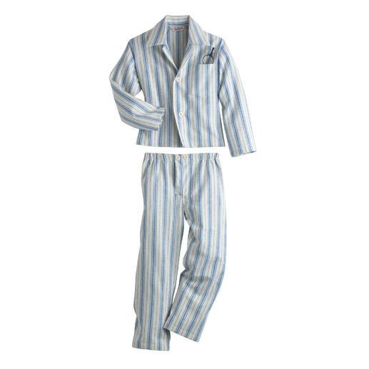 Dereks Kinderpyjama Unzählige Kinder lieben den Streifenpyjama. Hier ist das Original von Derek Rose, London.