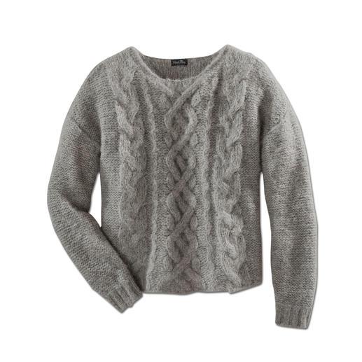 Schwer zu finden: der schlanke, leichte unter den angesagten Grobstrick-Pullovern. Schwer zu finden: der schlanke, leichte unter den angesagten Grobstrick-Pullovern.