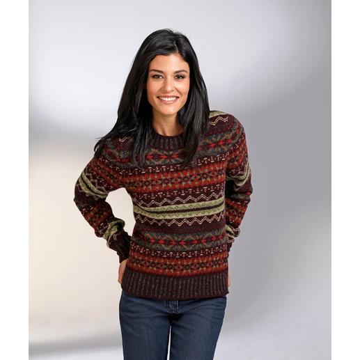 Eribé Fair-Isle-Damenpullover - Der original Fair-Isle-Pullover: Niemals aus der Mode- und doch so schwer zu finden. Aus echter Shetland-Wolle.