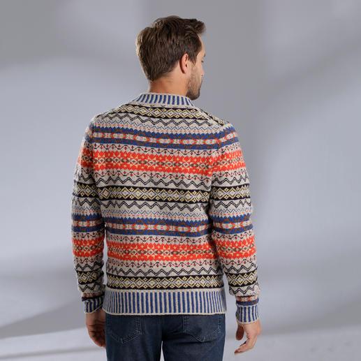 Eribé Fair-Isle-Damen- oder Herrenpullover Der original Fair-Isle-Pullover: Niemals aus der Mode- und doch so schwer zu finden. Aus echter Shetland-Wolle.