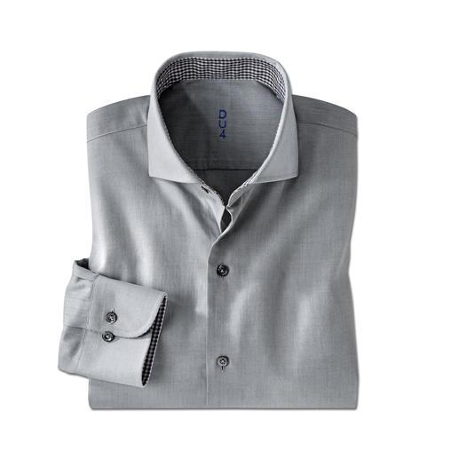 Claude Dufour Light-Flanell-Hemd Seltener Brushed-Twill: Flanell-Charakter auf leichtem Hemdenstoff. Das perfekte Hemd zum semi-korrekten Jersey-Sakko.