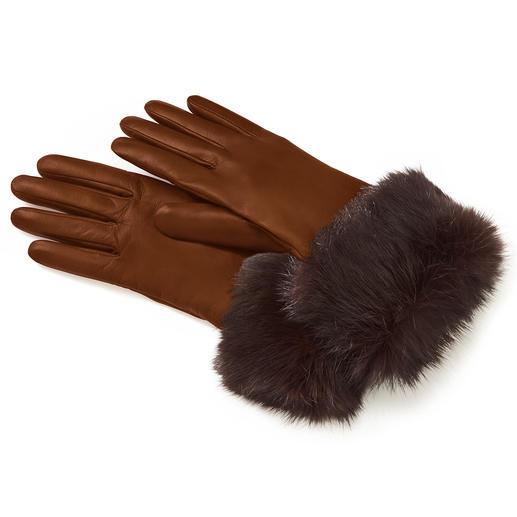 Kaninchenfell-Lederhandschuh 3-facher Luxus, erfreulich günstig.