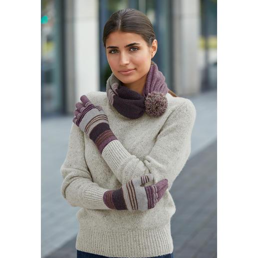 Eribé Handschuhe oder 2-in-1-Varioschal Absolut variabel: morgens Mütze, mittags Schal, abends Beanie.