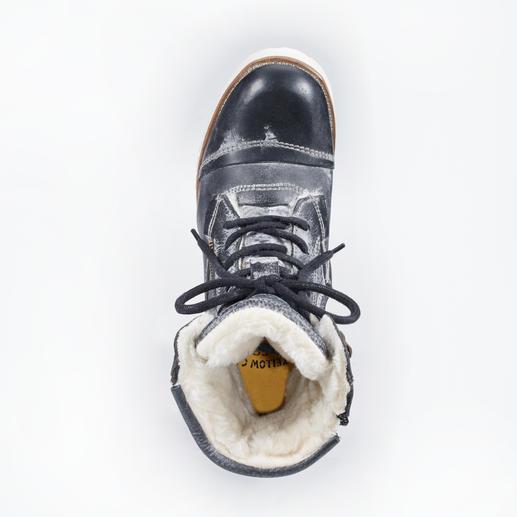 Yellow Cab Vintage-Boots, Anthrazit Kernig und robust. Dabei soft und 370 g leicht.