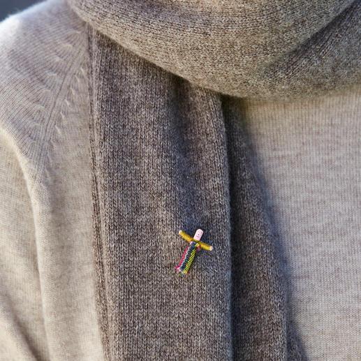 Yak/Alpaka-Beanie-Mütze oder Schal Strick-Accessoires aus kostbarem Baby-Yak und Baby-Alpaka. Flaumweich, federleicht und wunderbar wärmend.